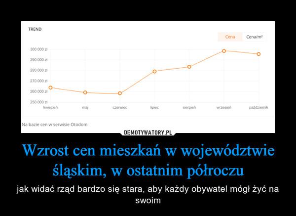 Wzrost cen mieszkań w województwie śląskim, w ostatnim półroczu – jak widać rząd bardzo się stara, aby każdy obywatel mógł żyć na swoim
