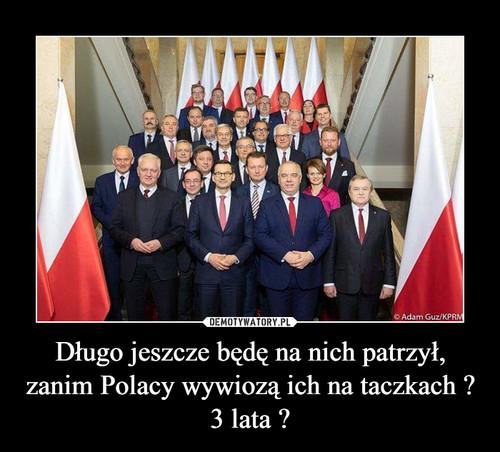 Długo jeszcze będę na nich patrzył, zanim Polacy wywiozą ich na taczkach ? 3 lata ?