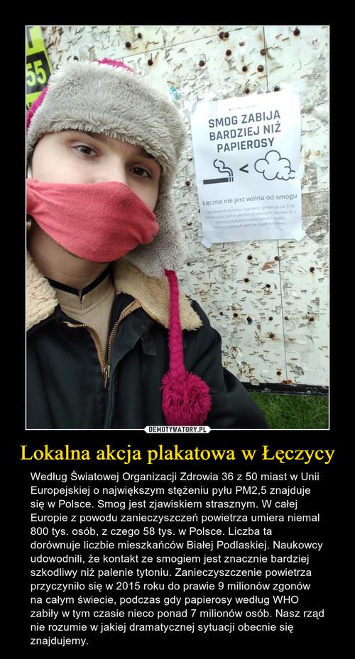 Lokalna akcja plakatowa w Łęczycy