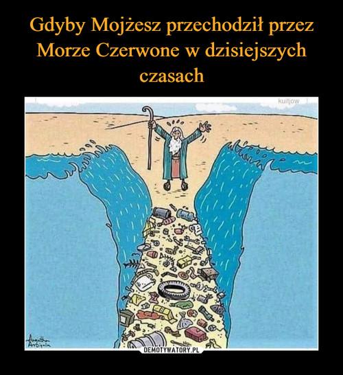 Gdyby Mojżesz przechodził przez Morze Czerwone w dzisiejszych czasach