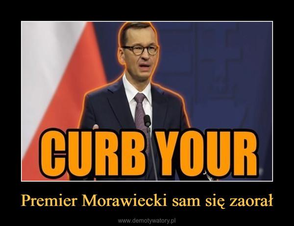 Premier Morawiecki sam się zaorał –