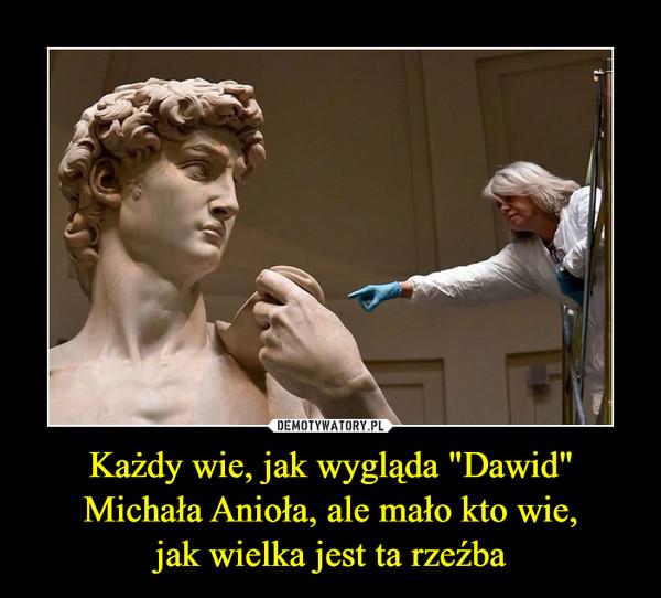 """Każdy wie, jak wygląda """"Dawid"""" Michała Anioła, ale mało kto wie,jak wielka jest ta rzeźba –"""