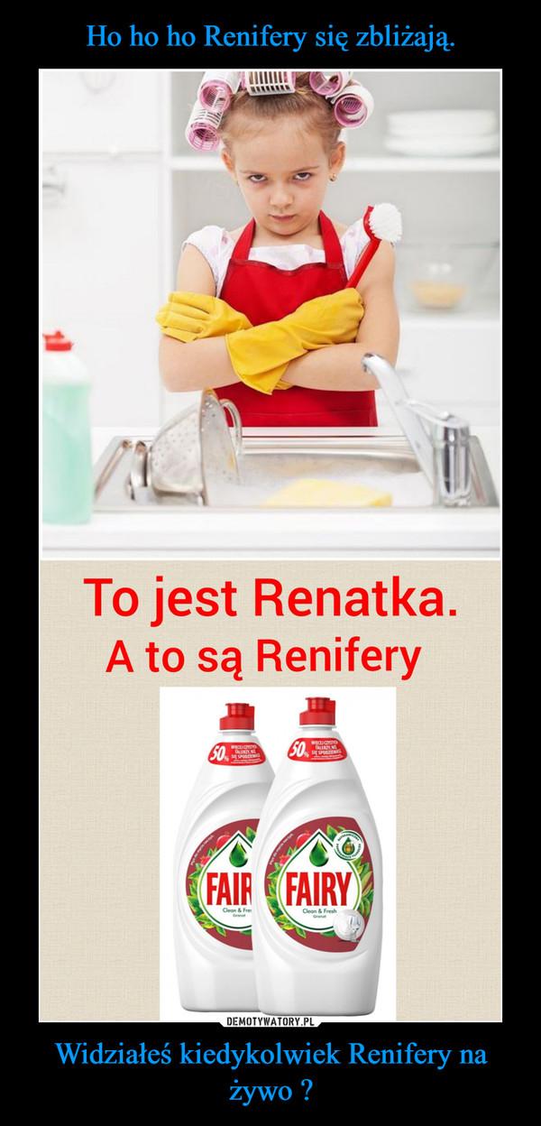 Widziałeś kiedykolwiek Renifery na żywo ? –