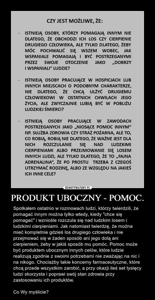 PRODUKT UBOCZNY - POMOC.