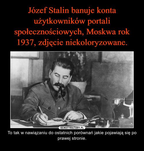 Józef Stalin banuje konta użytkowników portali społecznościowych, Moskwa rok 1937, zdjęcie niekoloryzowane.