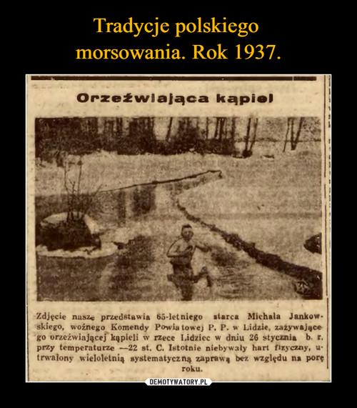 Tradycje polskiego  morsowania. Rok 1937.