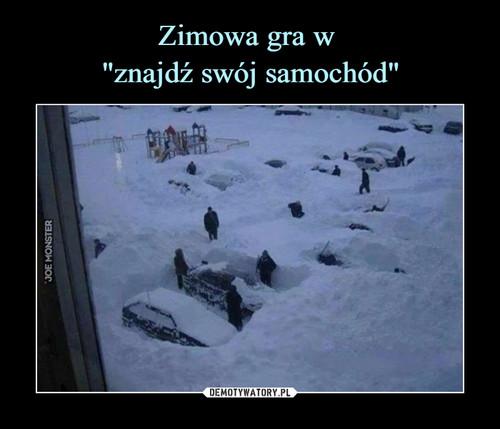 """Zimowa gra w  """"znajdź swój samochód"""""""