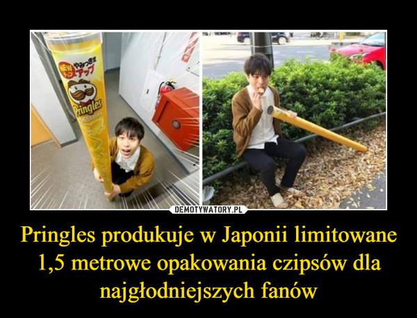 Pringles produkuje w Japonii limitowane 1,5 metrowe opakowania czipsów dla najgłodniejszych fanów –