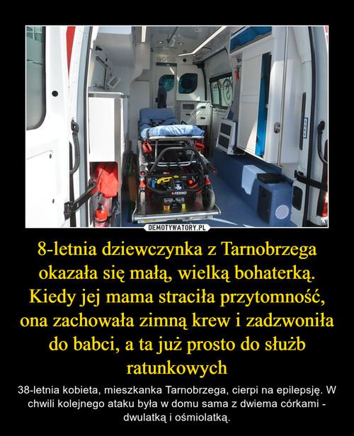 8-letnia dziewczynka z Tarnobrzega okazała się małą, wielką bohaterką. Kiedy jej mama straciła przytomność, ona zachowała zimną krew i zadzwoniła do babci, a ta już prosto do służb ratunkowych