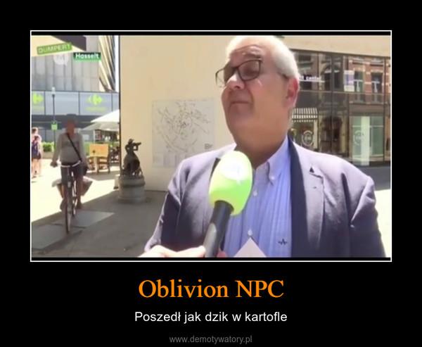 Oblivion NPC – Poszedł jak dzik w kartofle