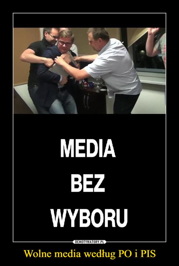 Wolne media według PO i PIS –