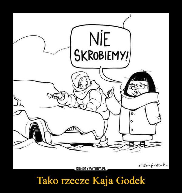 Tako rzecze Kaja Godek –