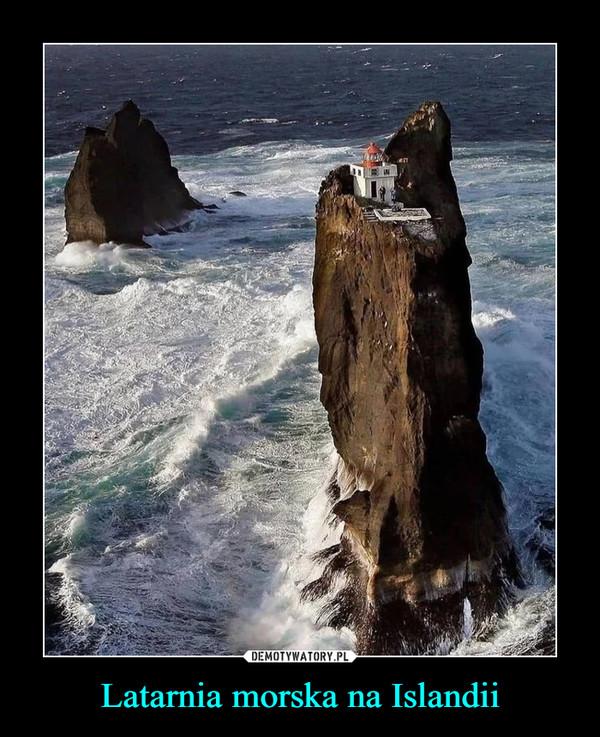 Latarnia morska na Islandii –