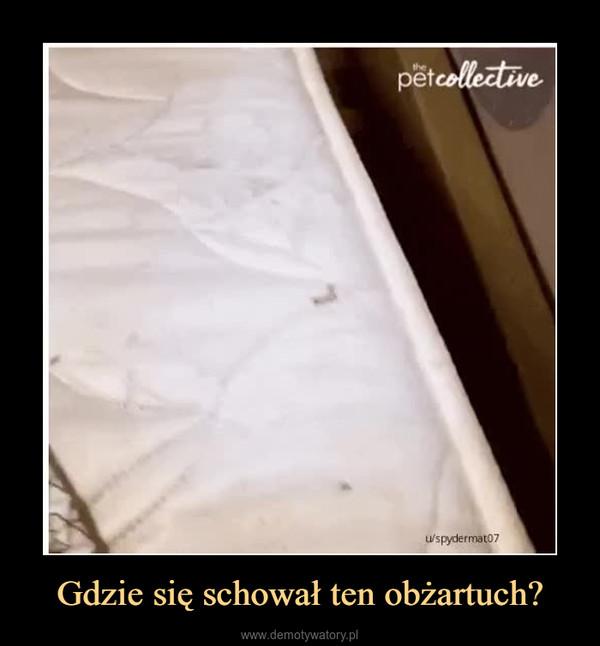 Gdzie się schował ten obżartuch? –