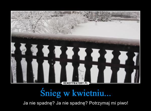 Śnieg w kwietniu... – Ja nie spadnę? Ja nie spadnę? Potrzymaj mi piwo!