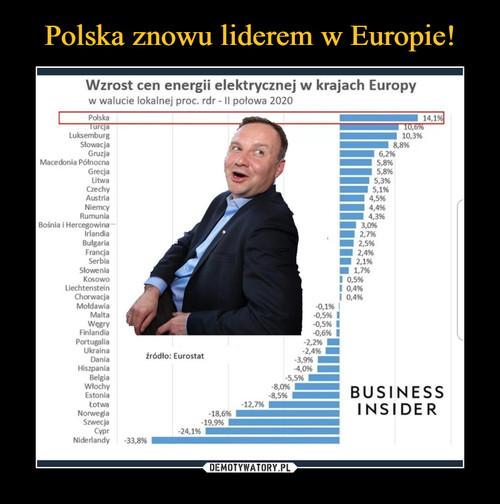 Polska znowu liderem w Europie!