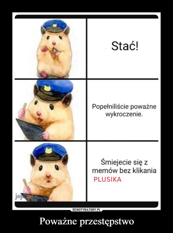 Poważne przestępstwo –