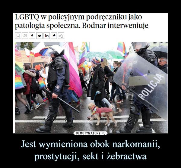 Jest wymieniona obok narkomanii, prostytucji, sekt i żebractwa –  LGBTQ w policyjnym podręczniku jako patologia społeczna. Bodnar interweniuje