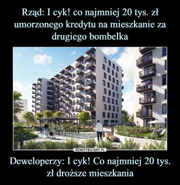 Deweloperzy: I cyk! Co najmniej 20 tys. zł droższe mieszkania –