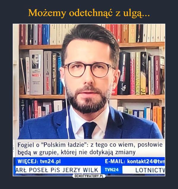 """–  Fogiel o """"Polskim ładzie"""": z tego co wiem, posłowiebędą w grupie, której nie dotykają zmianyWIĘCEJ: tvn24.plE-MAIL: kontakt24@tvnARŁ POSEŁ PiS JERZY WILKTVN24LOTNICTV10V- NSKIARAYPzkey"""