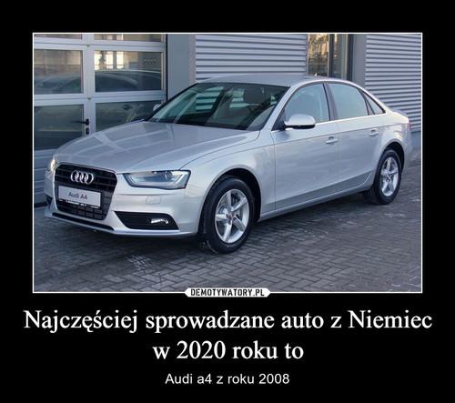 Najczęściej sprowadzane auto z Niemiec w 2020 roku to