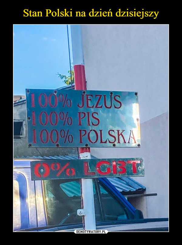 –  100% JEZUS100% PIS100% POLSKA0% LGBT